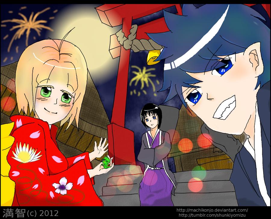 AnE:Hatsumode by MachiKonjo