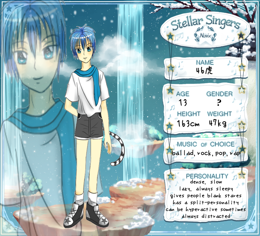 Stellar Singers App: Shiro Tora by MachiKonjo
