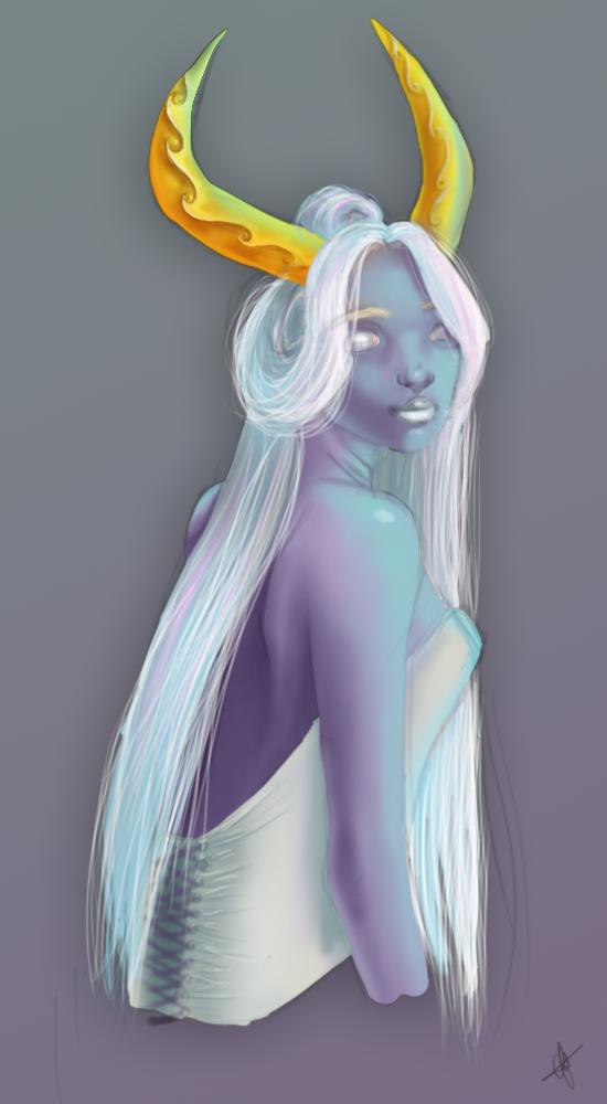 Blue maiden by Catiza