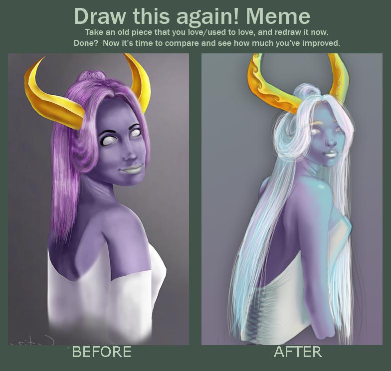 Purple maiden meme by Catiza