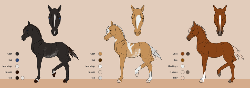 Foal designs for Feathercandy by Catiza