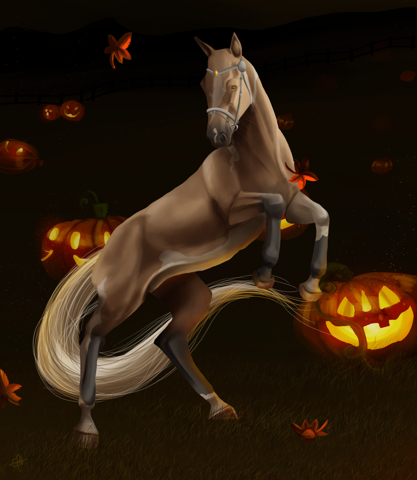 Glowing with pumpkins by Catiza