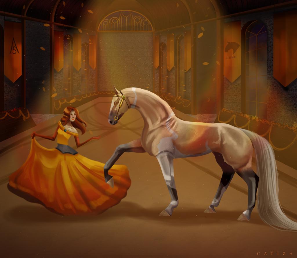 Golden dress by Catiza