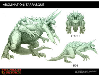 Tarrasque by NicholasKay