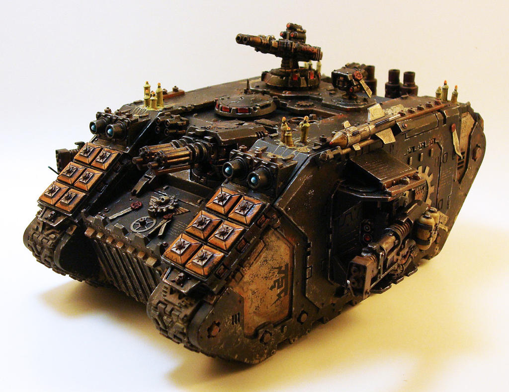 Land Raider Redeemer Front 2 by NicholasKay