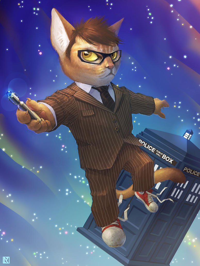 Dr. Who Cat aka Dr. Mew by NicholasKay