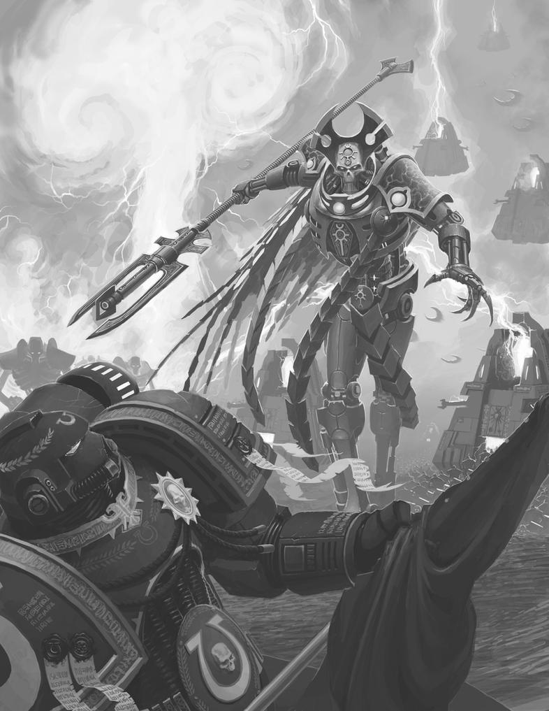 Necron Overlord: Monochrome by NicholasKay