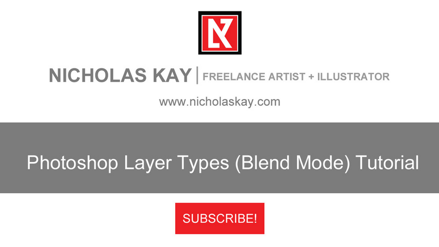 Adobe Photoshop Layer Types (Blend Mode) Tutorial by NicholasKay