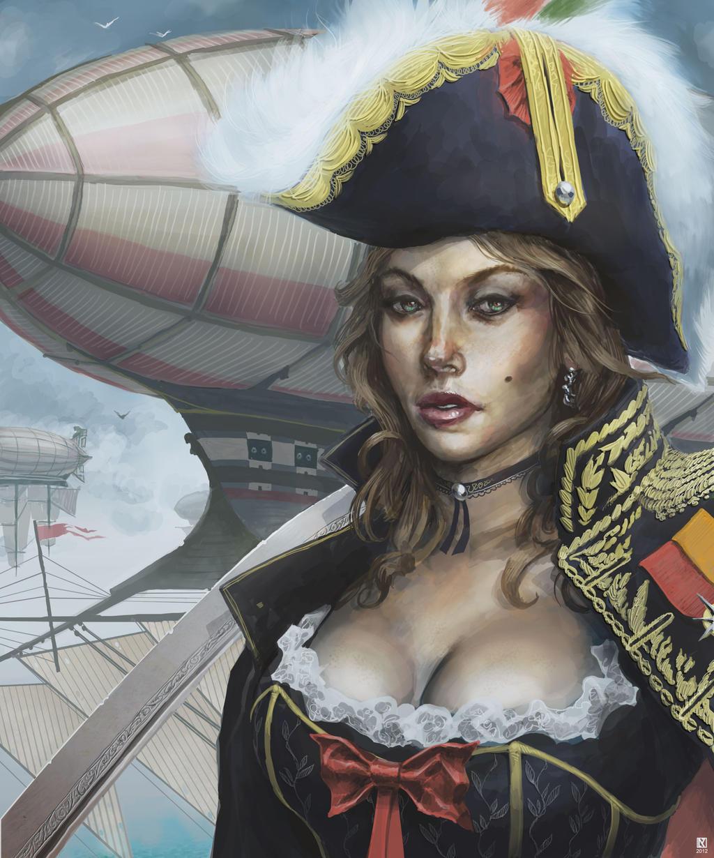 Captain Caela by NicholasKay
