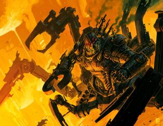 Dark tech Priest Solon by NicholasKay