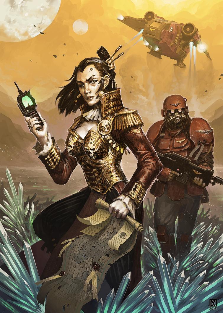 Rogue Trader Fleet by NicholasKay