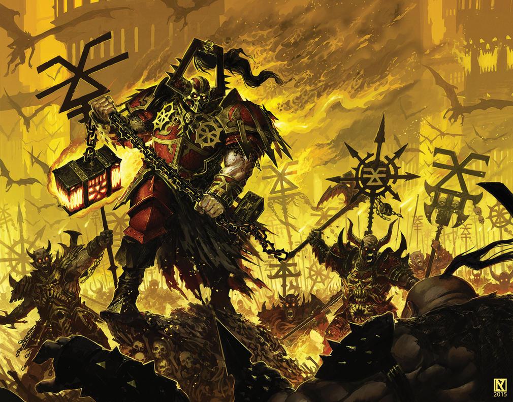 Khorne Bloodbound vs. Ogres by NicholasKay on DeviantArt