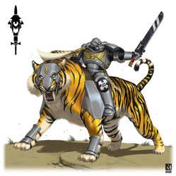 Space Marine Tiger Rider Private Commission
