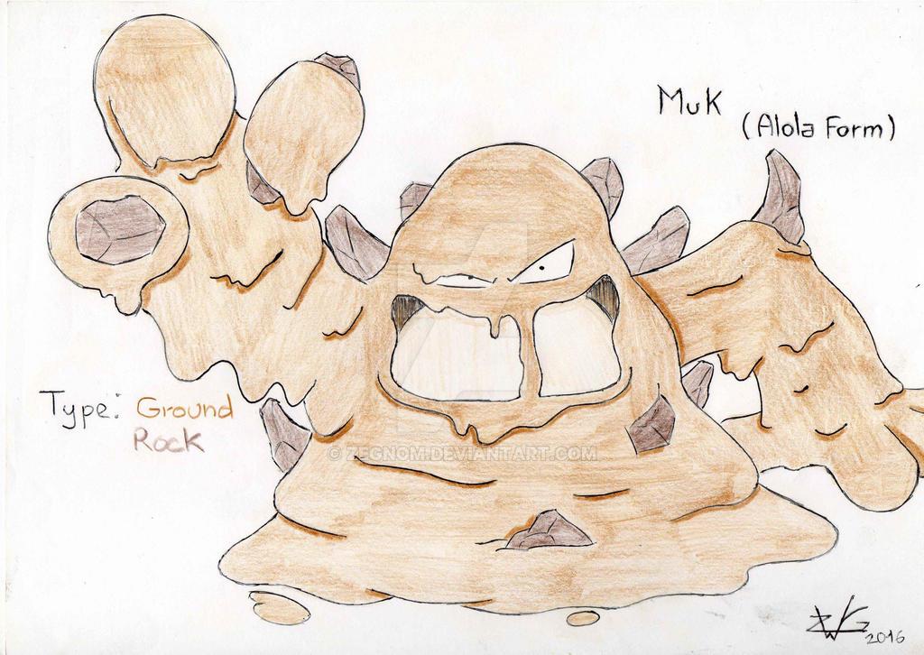 Muk (alola form) by ZeGnom on DeviantArt
