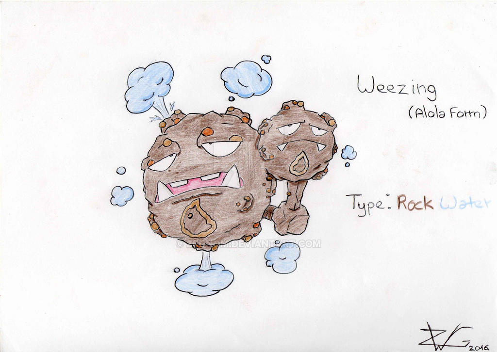 Weezing (alola form) by ZeGnom on DeviantArt