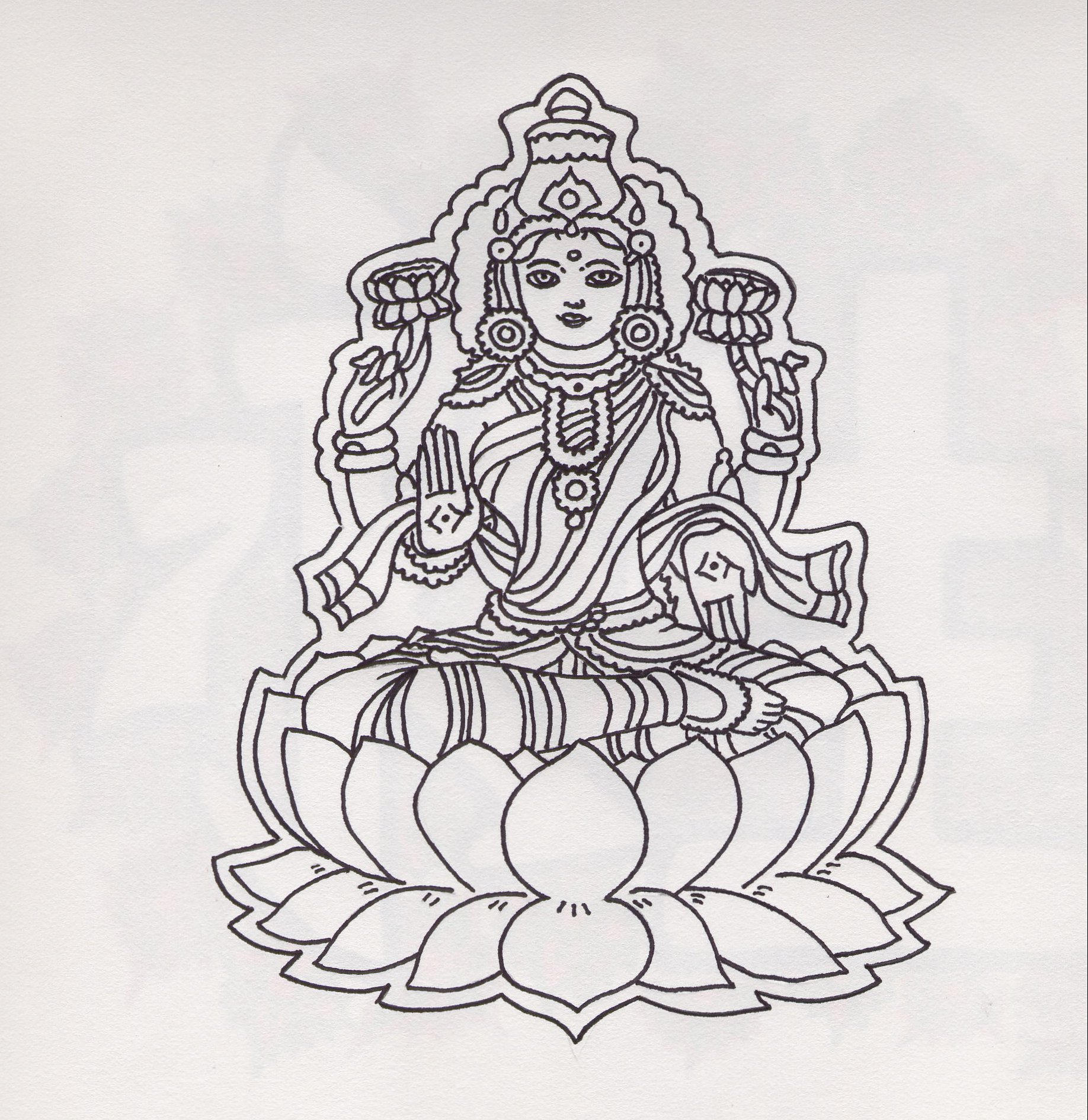 Line Art Hindu Gods : Hindu god by soletthemstare on deviantart