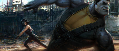 Deadpool Movie - Angel Dust VS Colosuss