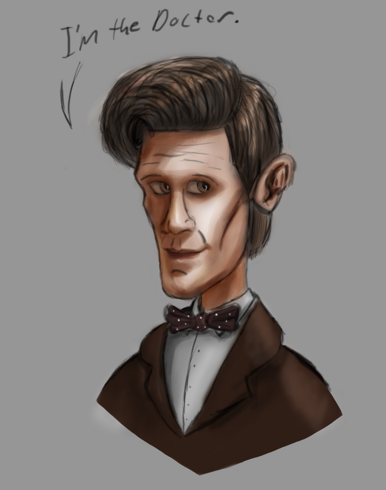 Matt Smith Caricature by Ashura01