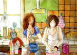Cuisiner dans la cuisine