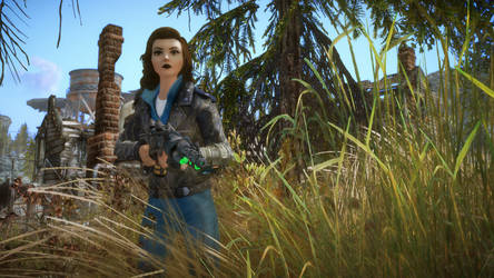(Chicago Enclave) Lizzie with Boosted Plasma Rifle by JackLee19
