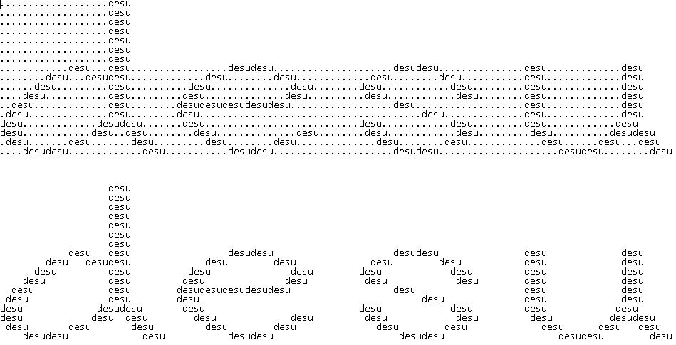 ASCII desu - lowercase by Senkyoka