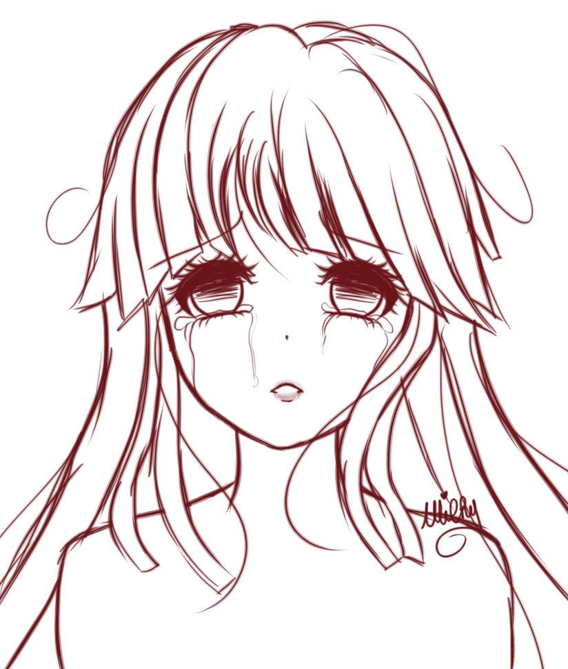 Kokoro can cry too by MilkyMitsuki