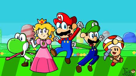 Super Mario Adventures The Animation Artwork by AnAnimatedGamer