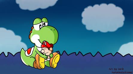 Yoshi and Baby Mario by AnAnimatedGamer by AnAnimatedGamer