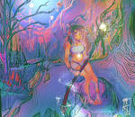 The Druidic Priestess by anem0ia