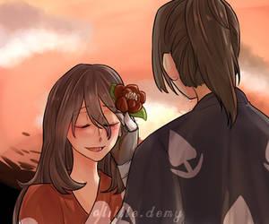Red Flower [Hyakkimaru x Mio] by LittleDemy