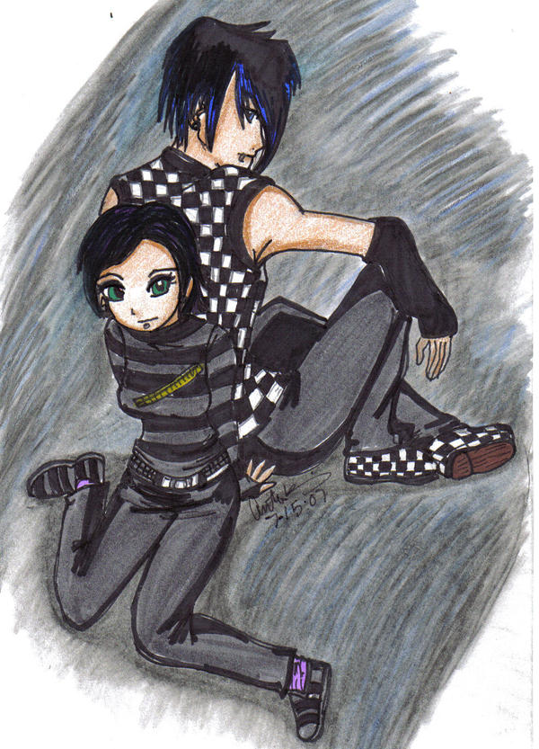 Emo couple boy and girl by sailorchix on deviantart emo couple boy and girl by sailorchix voltagebd Choice Image