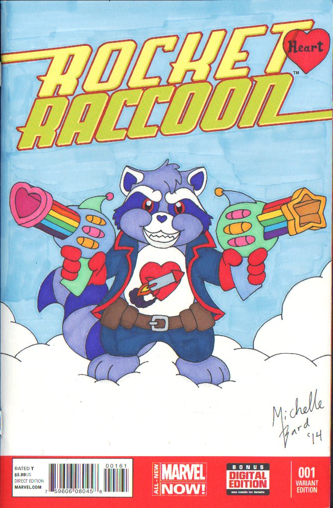Rocket Heart Raccoon by ToonSkribblez