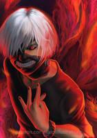Kaneki Ken - Tokyo Ghoul by CAROTdrawsthings