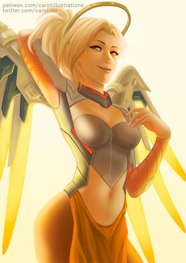 Mercy (Overwatch) - SFW by CAROTdrawsthings