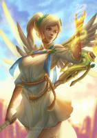 Mercy (SFW version) - Overwatch by CAROTdrawsthings