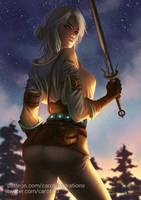Ciri (SFW version) - The Witcher III by CAROTdrawsthings
