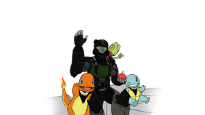 A Helljumper and his Poke-Friends by Xrayleader