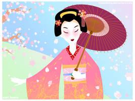 Maiko Sakura by thebadkitty