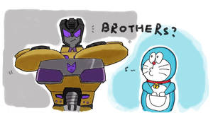 Swindle and Doraemon by Guymay