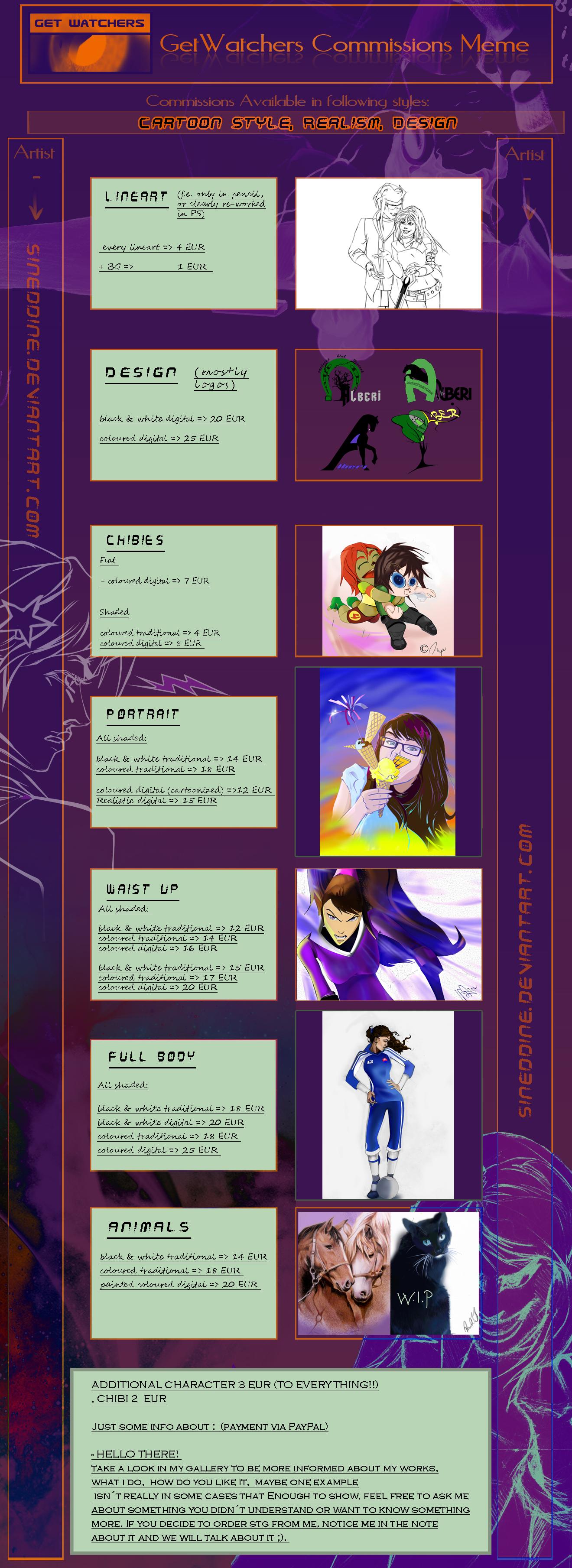 Commissions Info Meme by sineddine