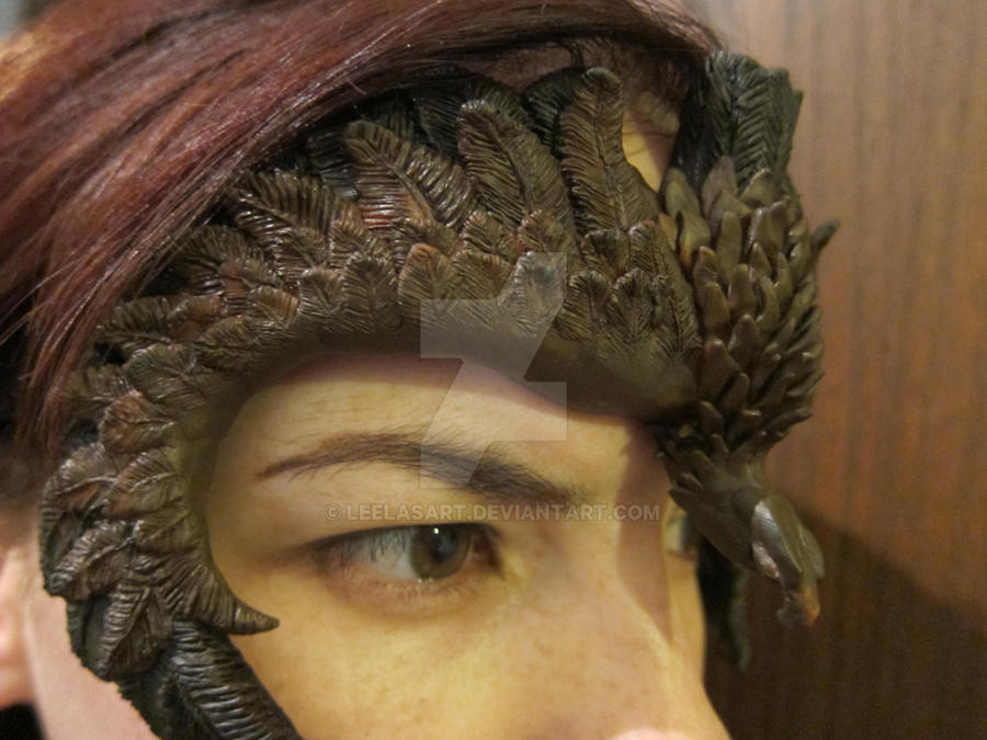 Eagle Mask -side by LeelasArt