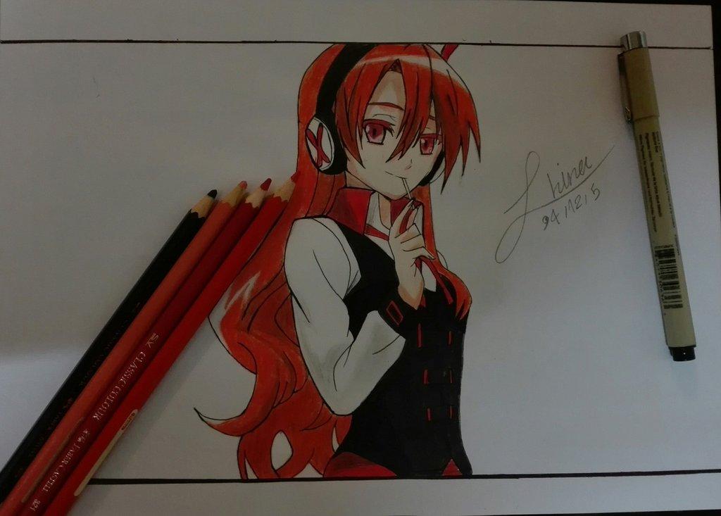 akame_ga_kill__chelsea_drawing_by_hinajo