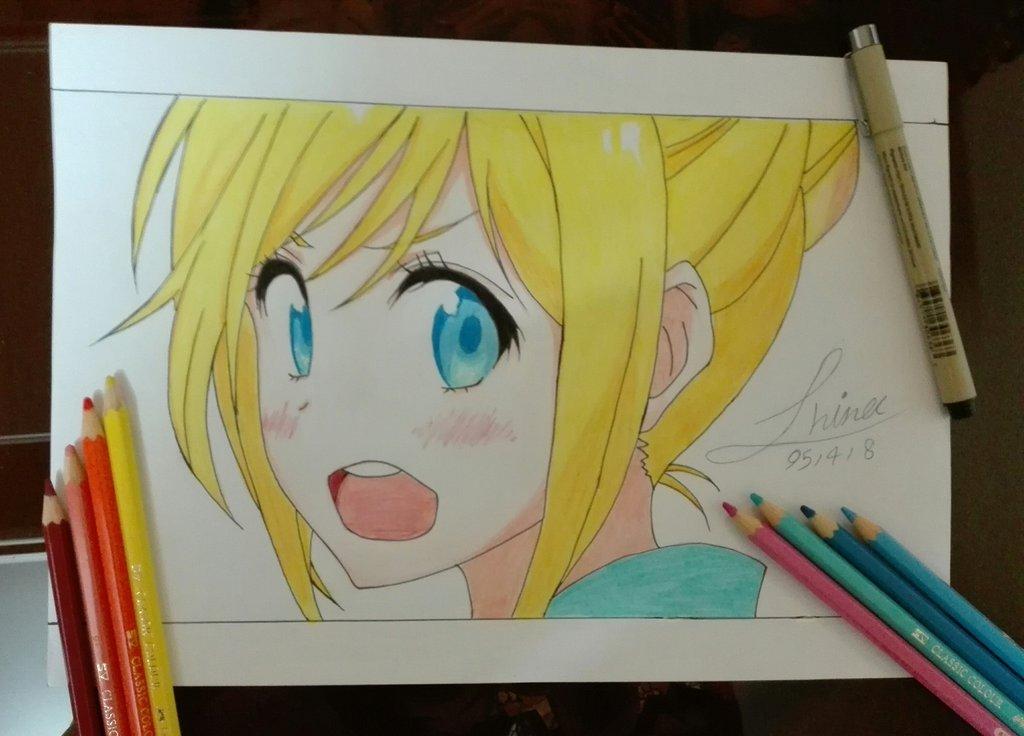 chitoge_chan_nisekoi_drawing_by_hinajoon