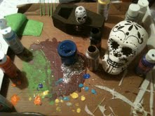 Day of the Dead Progress by MisakiAnimeLuver