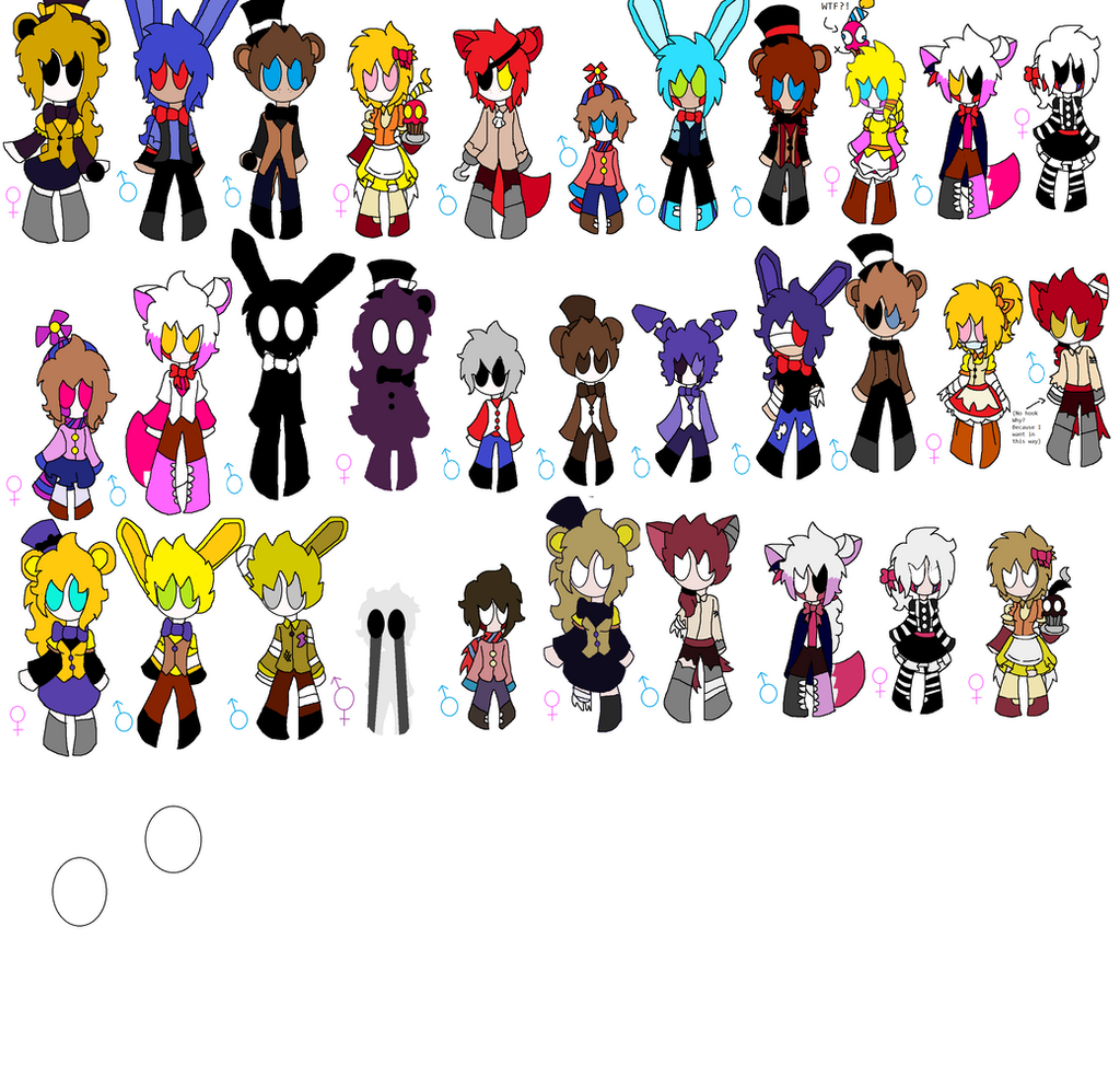 Fnaf world characters wip 3 by coxinhadoce on deviantart