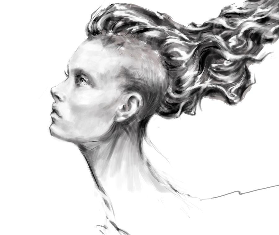 Head sketch by ShastinaHell-N