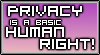 Privacy is a Right (Stamp) by MadKingFroggy