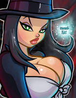 Zatanna Collab with 1pez by ASSESINA