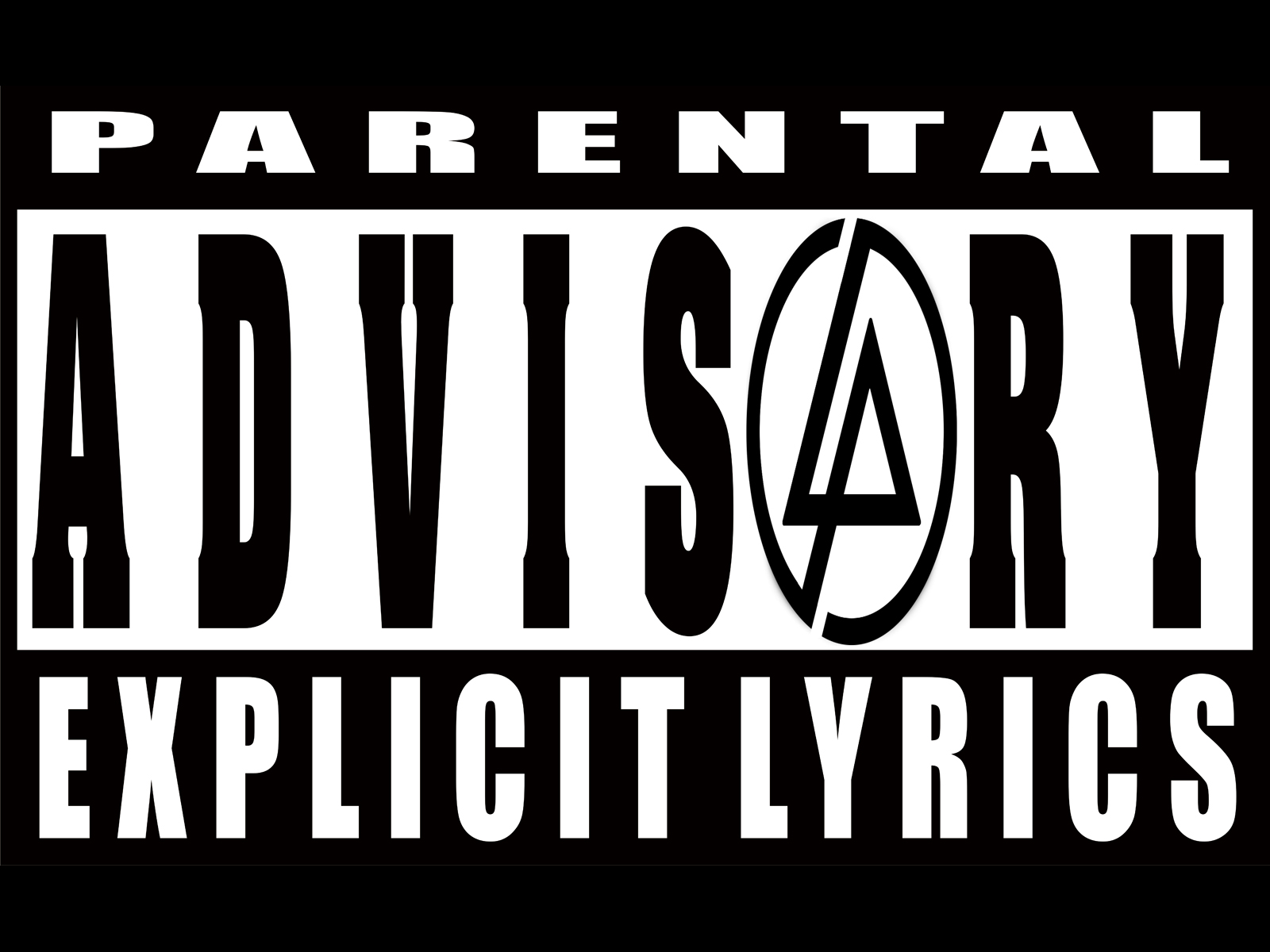 how to add parental advisory to a picture