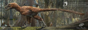 Deinonychus restoration by MiryAnne